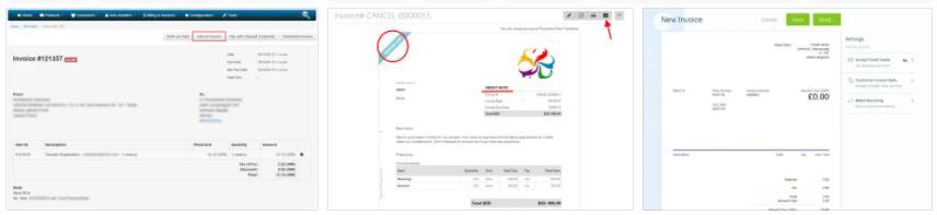 Cancellation Invoice